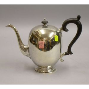Gebelein Sterling Silver Coffeepot with Ebony Handle.