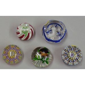 Two Perthshire and Two Other Paperweights