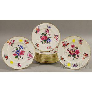"Set of Twelve Coalport ""Old Coalport"" Porcelain Plates"