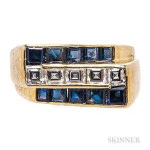 18kt Gold, Sapphire, and Diamond Ring, Oscar Heyman