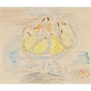 Raoul Dufy (French, 1877-1953)      Bowl of Pears with a Shell