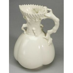 Royal Worcester Porcelain Coral Handled Jug
