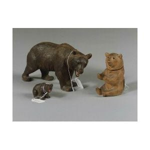 Three Black Forest Carved Figures of Bears