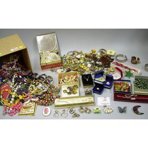 Box of Assorted Costume Jewelry