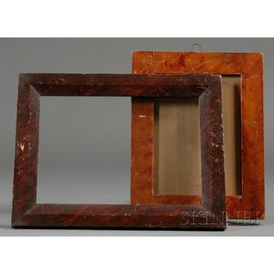 Two Grain-painted Wood Frames