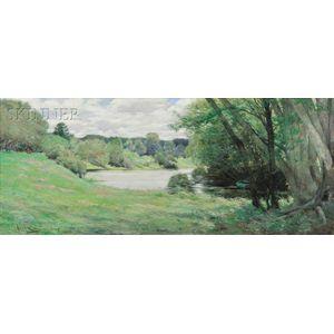 Allan Banks (American, b. 1948)      Pond View