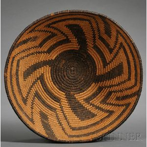 Southwest Coiled Basketry Bowl