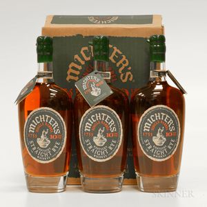 Michters Single Barrel Straight Rye 10 Years Old, 3 750ml bottles (oc)