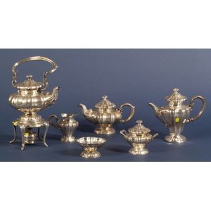 Six Piece Peruvian Sterling Tea and Coffee Service