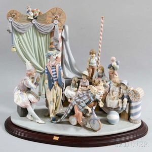 "Large Lladro Ceramic Figural Group ""Circus Time,"""