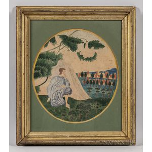 Attributed to Mary S. Chapin (New England, Mid-19th Century)      Contemplation