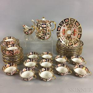 Fifty-seven Pieces of Royal Crown Derby Imari-pattern Tableware