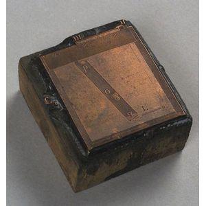 Original Lumiere Copper Printing Block
