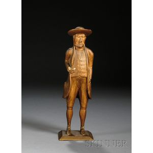 Carved and Painted Walnut Figure of William Penn