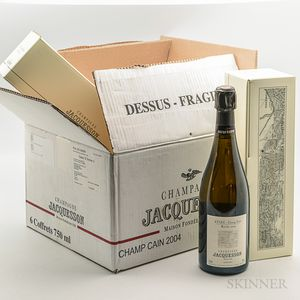 Jacquesson Champ Cain 2004, 6 bottles (individual ogb)