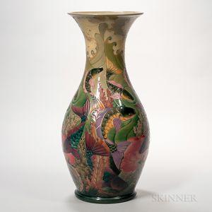 Large Moorcroft Pottery Carp Vase