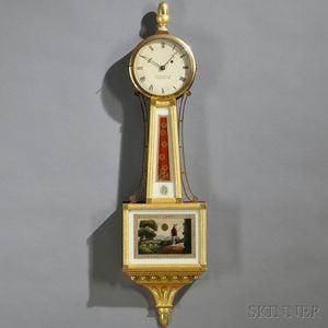 "T.E. Burleigh Jr. Mahogany Patent Timepiece or ""Banjo"" Clock"