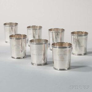 Seven Sterling Silver Trophy Julep Cups