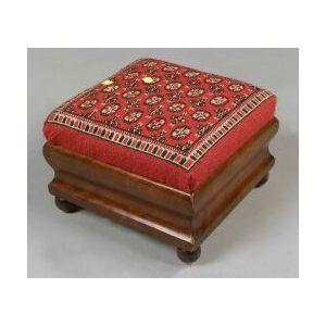 American Empire Mahogany Needlework Upholstered Footstool