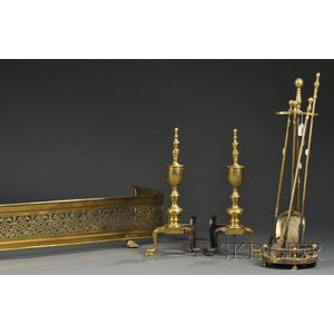 Group of Brass Fireplace Accoutrements
