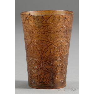 Engraved Horn Cup