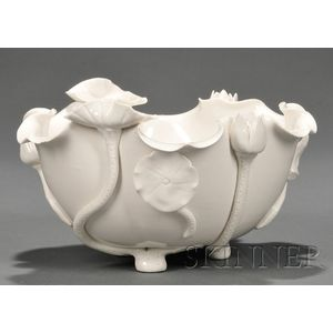 White Ware Lotus Bowl