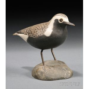 Jess Blackstone Miniature Carved and Painted Black-bellied Plover Figure