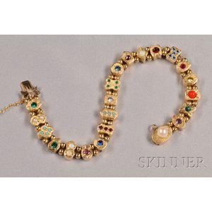 14kt Gold Slide Bracelet