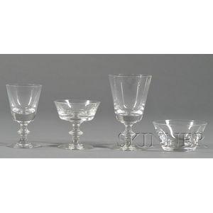 Suite of Val St. Lambert Glassware