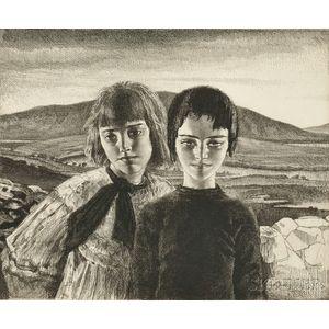 Gerald L. Brockhurst (British, 1890-1978)      West of Ireland