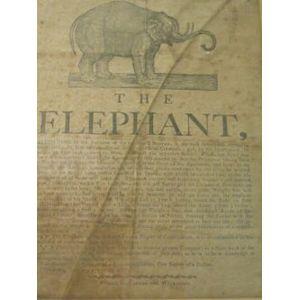 Printed Broadside, 'The Elephant', 1797, printed by Carter & Wilkinson