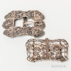 Two Figural Buckles