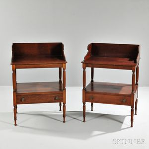 Pair of Georgian Mahogany Side Tables