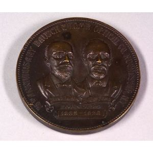 Bronze Bausch & Lomb 75th Anniversary Medal