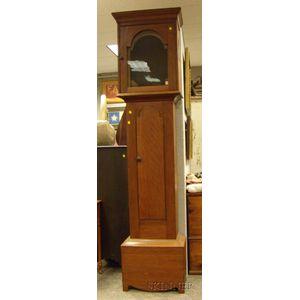 Cherry Tall Clock by Silas Hoadley