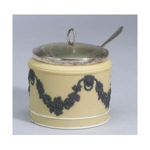 Wedgwood Yellow Jasper Dip Mustard Pot