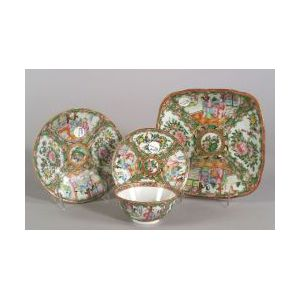 Four Rose Medallion Tableware Items