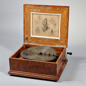 Regina 15 1/2-inch Disc Musical Box