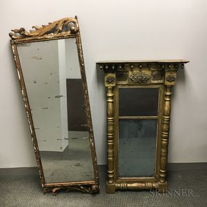 Two Carved Gilt-gesso Mirrors