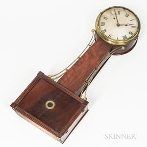 """New England Wood-front Patent Timepiece or """"Banjo"""" Clock"""