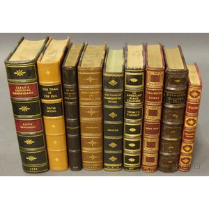 Nine Miscellaneous Leatherbound Titles