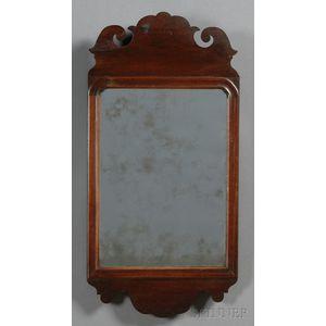 Queen Anne Mahogany Veneer Mirror