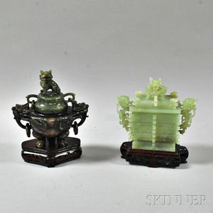 Two Hardstone Censers
