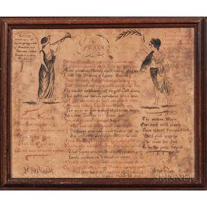 """""""On Peace"""" Poem on Laid Paper"""