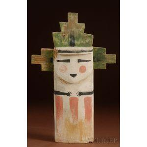 Southwest Polychrome Carved Wood Kachina Doll