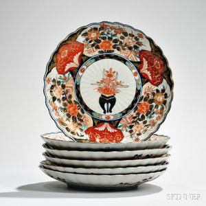 Set of Imari Floral Plates