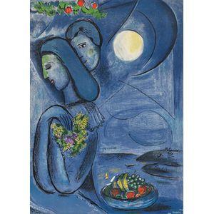 After Marc Chagall (Russian/French, 1887-1985)      Saint-Jean-Cap-Ferrat