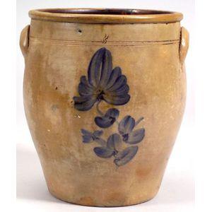 Cobalt Decorated Three-gallon Stoneware Jar
