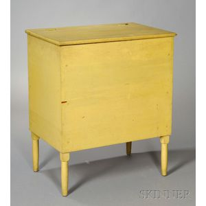 Shaker Pine and Maple Chrome Yellow-painted Storage Bin