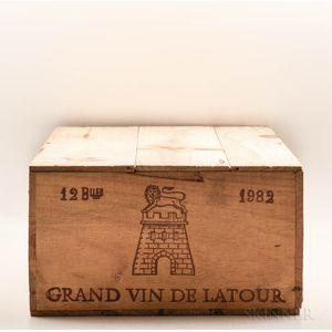 Chateau Latour 1982, 12 bottles (owc)